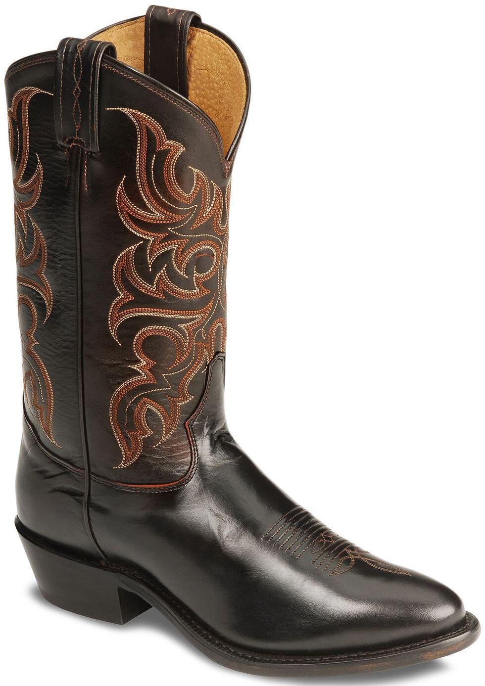 Tony Lama Regal Americana Boots - Medium Toe, Peanut, hi-res