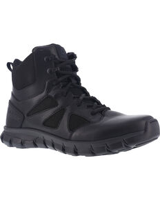 "Reebok Men's 6"" Sublite Cushion Tactical Boots - Soft Toe , Black, hi-res"