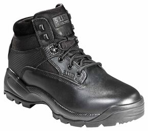 "5.11 Tactical Men's A.T.A.C. 6"" Side-Zip Boots - Round Toe, Black, hi-res"