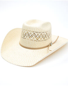 Resistol Men's Cody Johnson Natural Boswell Western Straw Hat, Natural, hi-res