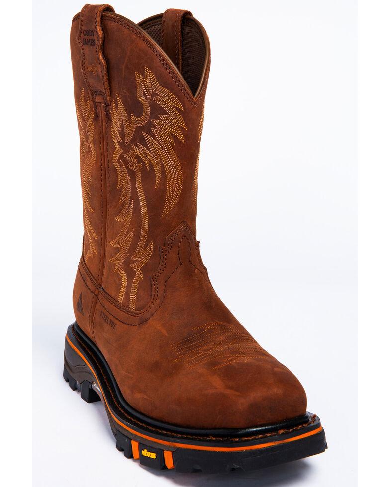 Cody James Men's Decimator Puncture Resisting Western Work Boots - Steel Toe, Brown, hi-res