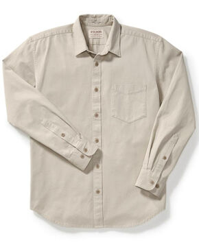 Filson Men's Gray 6.5 oz. Chino Shirt , Light Grey, hi-res