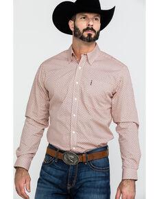 73656dd83c4 Cinch Mens Coral Modern Geo Print Long Sleeve Western Shirt