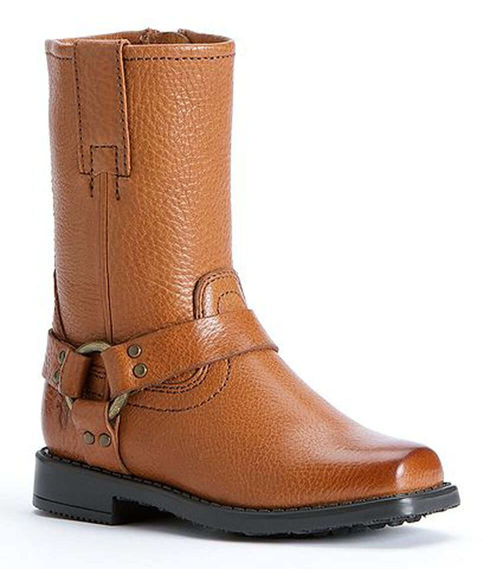 Frye Girls' Harness Pull-on Boots, Saddle Tan, hi-res