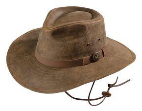 48a08cedb7f Outback Trading Co. Kodiak Leather Hat