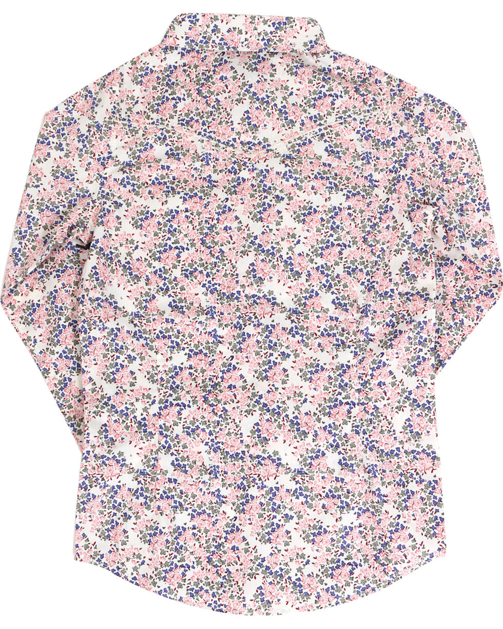 Shyanne Girls' Ditsy Woven Long Sleeve Shirt , Pink, hi-res