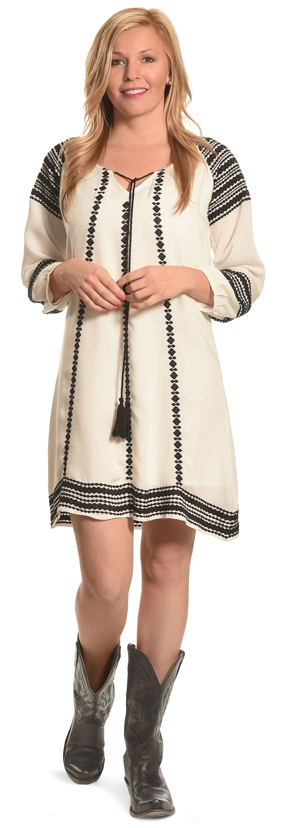 "R Cinco Ranch ""Hello Darlin'"" Dress, White, hi-res"