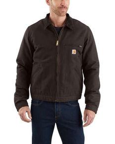 Carhartt Men's Duck Detroit Work Jacket - Big , Dark Brown, hi-res