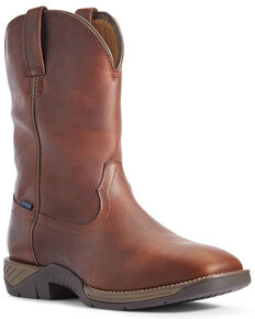 Ariat Men's Ranch Work Waterproof Western Boots - Wide Square Toe, Brown, hi-res