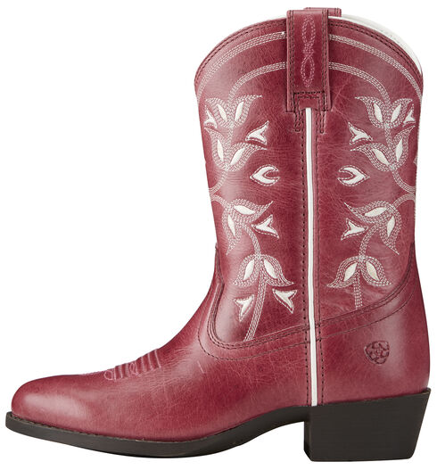 Ariat Youth Girl's Pink Desert Holly Boots - Medium Toe, Pink, hi-res