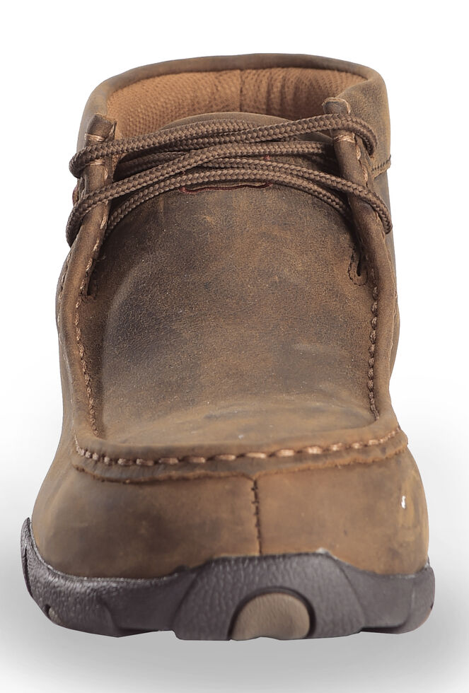 Twisted X Driving Moc Work Shoes - Steel Toe, Distressed, hi-res