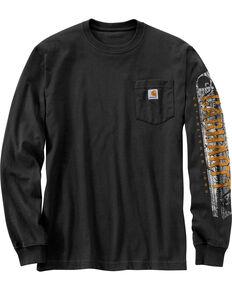 e5992e2242 Carhartt Workwear Mens Saw Graphic Long Sleeve T-Shirt - Tall , Black, hi