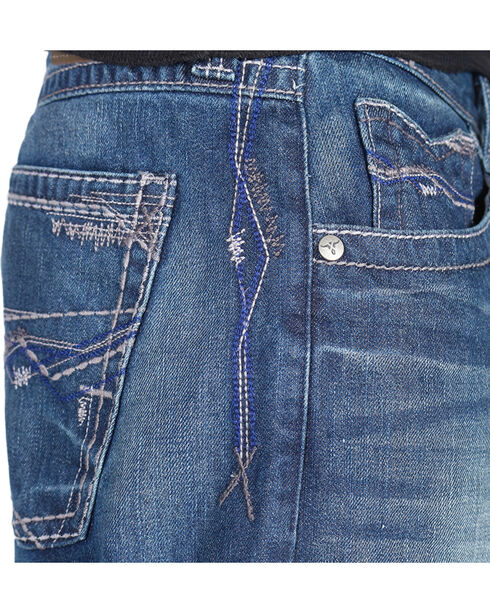 Wrangler Men's Blue 20X No. 33 Extreme Relaxed Fit Jeans - Boot Cut , Blue, hi-res