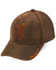 Browning Men's Brown Rhino Hide Embroidered Logo Ball Cap , Brown, hi-res