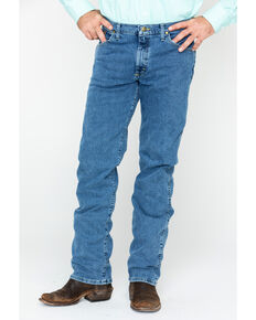 George Strait By Wrangler Men's Regular Fit Bootcut Jeans, Blue, hi-res