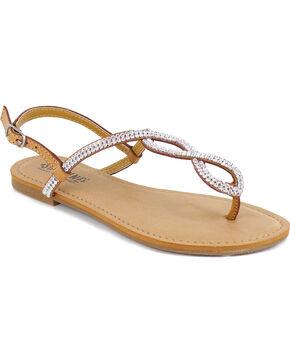 Shyanne Women's Bling Loop Sandal, Natural, hi-res