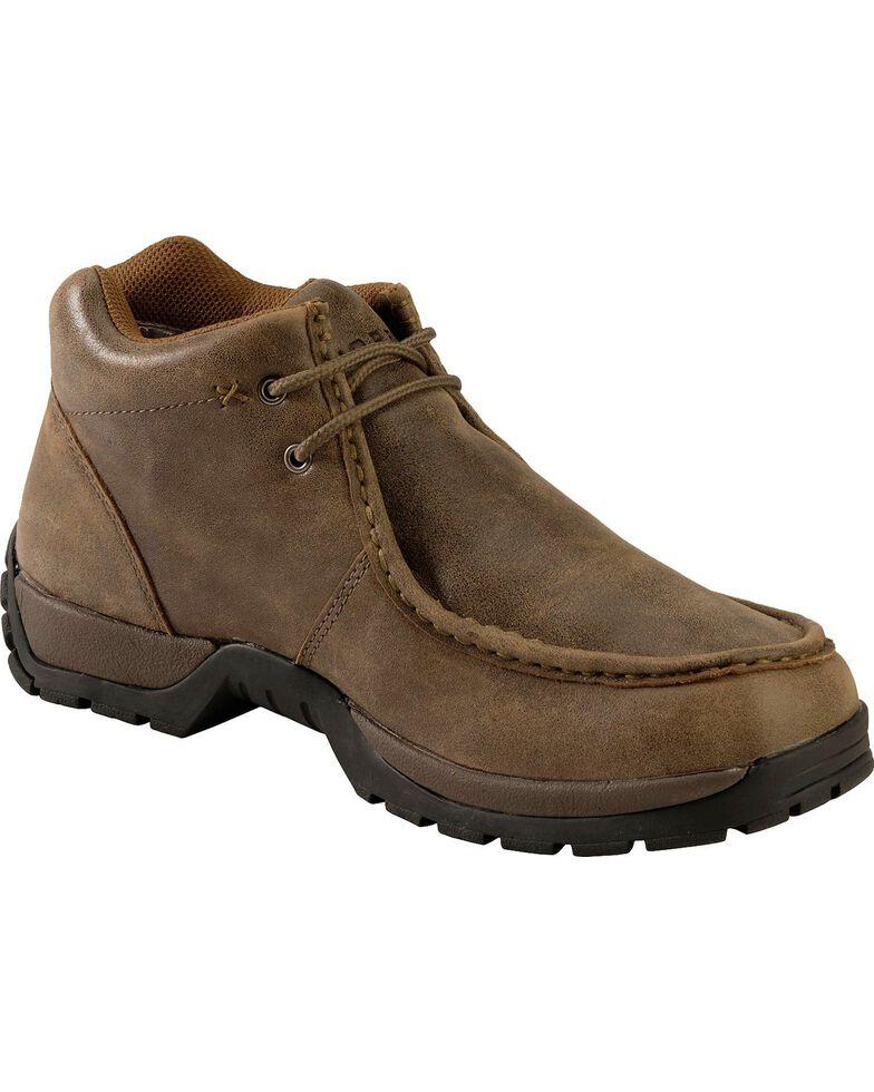 Roper Men's Vintage Nubuck Rugged Sole Shoes, Brown, hi-res