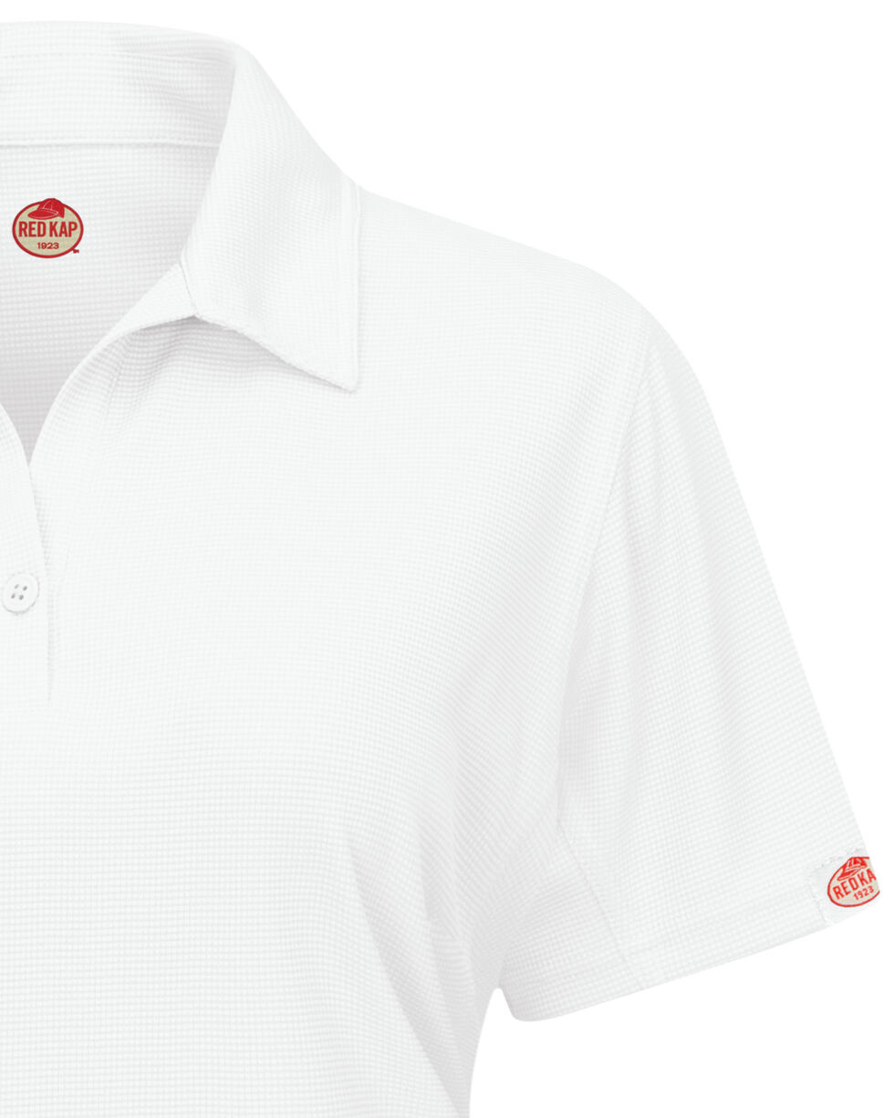 Red Kap Women's Performance Knit Flex Series Pro Polo  , White, hi-res