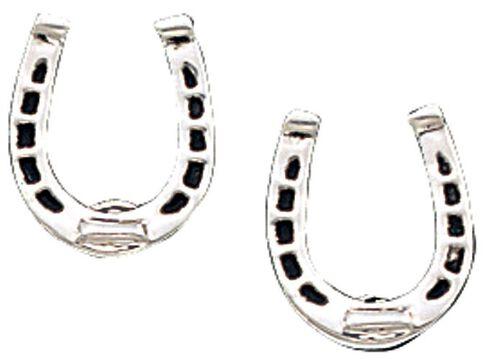 Montana Silversmiths Horseshoe Post Earrings, Silver, hi-res