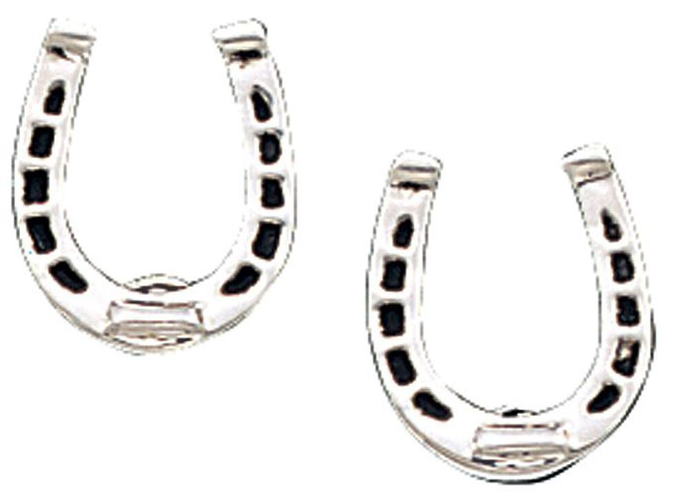 Montana Silversmiths Horseshoe Post Earrings, Silver, hi-res