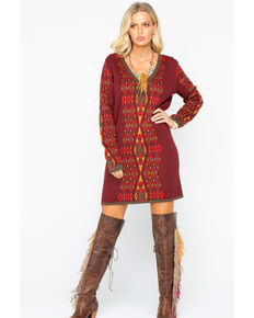 Tasha Polizzi Women's Sundance Dress , Red, hi-res