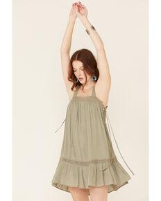 HYFVE Women's Olive Side Tie Sundress, Olive, hi-res