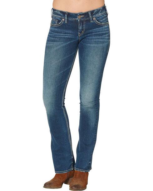 Silver Women's Suki Mid Boot Dark Wash Jeans , Blue, hi-res