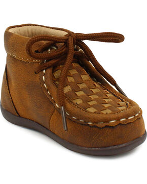 Double Barrel Boys' Brown Carson Chukka Shoes, Brown, hi-res