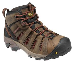 Keen Men's Flint Low Hiking Shoes - Steel Toe, Henna, hi-res