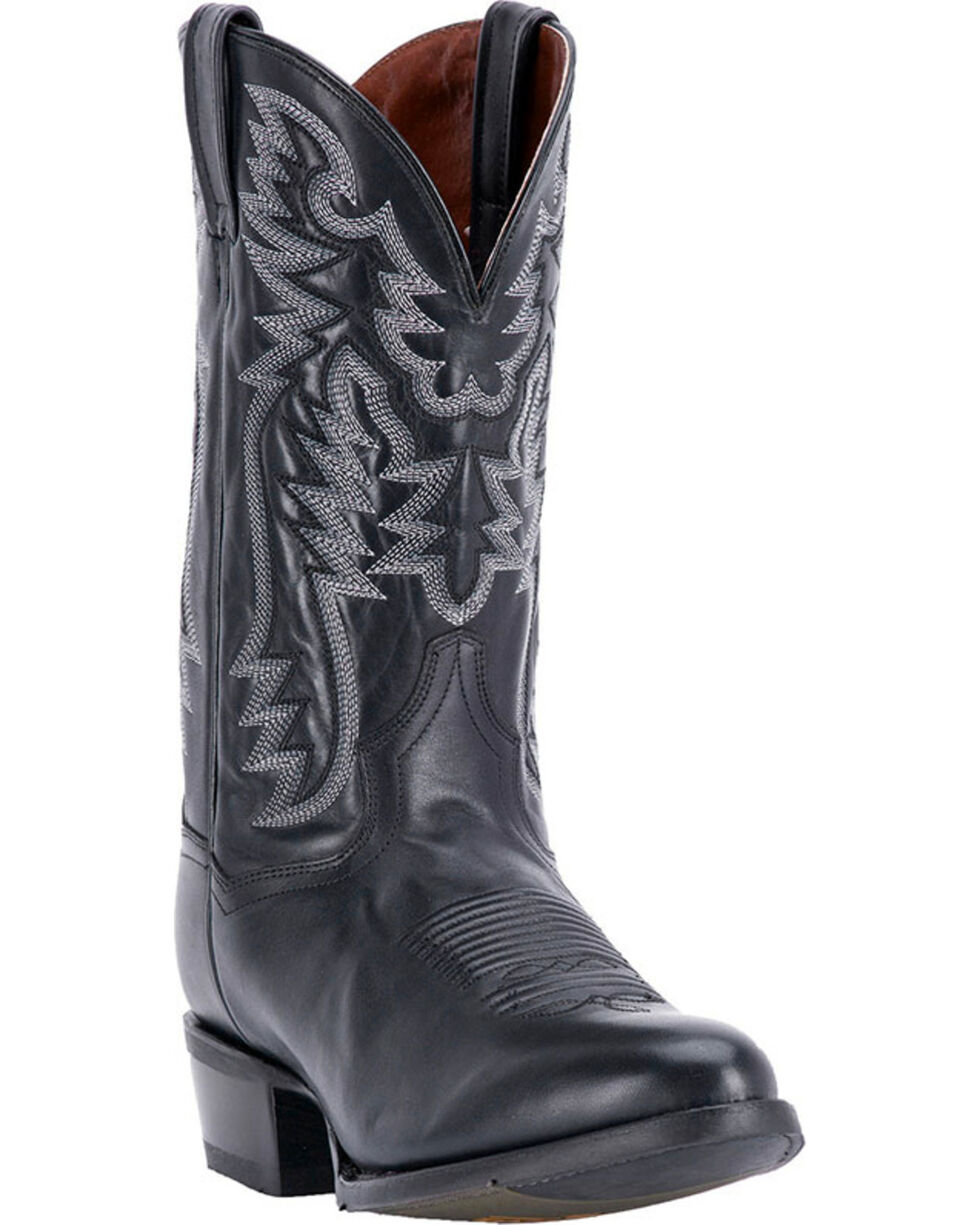 Dan Post Men's Centennial Black Western Boots - Round Toe, Black, hi-res