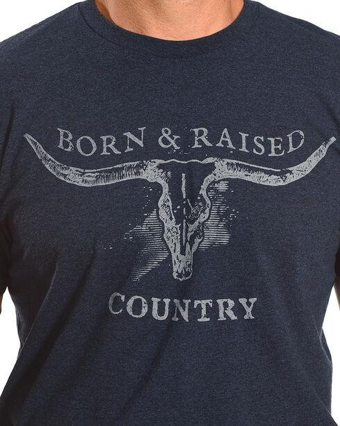 Cody James Men's Born & Raised Country Short Sleeve T-Shirt, Heather Blue, hi-res