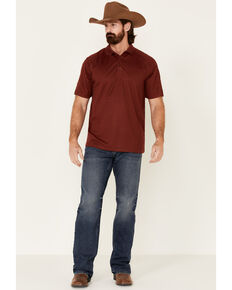 Ariat Men's AC Solid Short Sleeve Polo Shirt , Red, hi-res