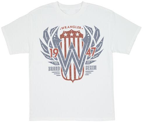Wrangler Men's Denim Screen Print T-Shirt, White, hi-res