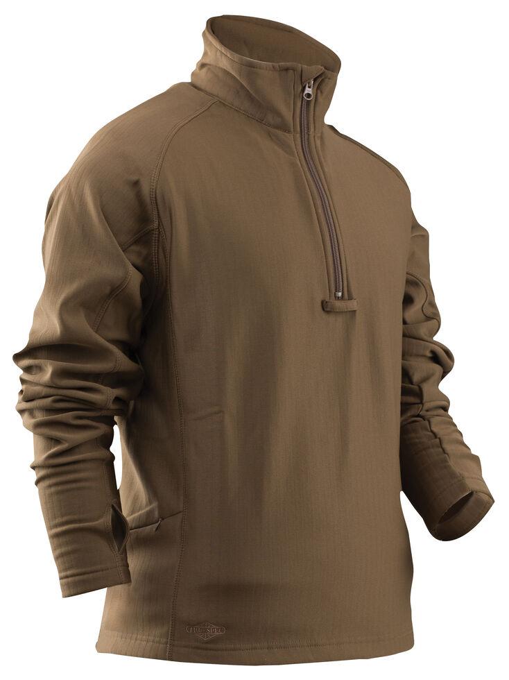 Tru-Spec Men's 24-7 Grid Fleece Pullover , Coyote Brown, hi-res