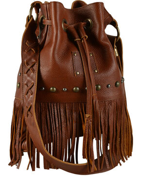 """STS Ranchwear """"The Free Spirit"""" Bucket Bag, Saddle Brown, hi-res"""
