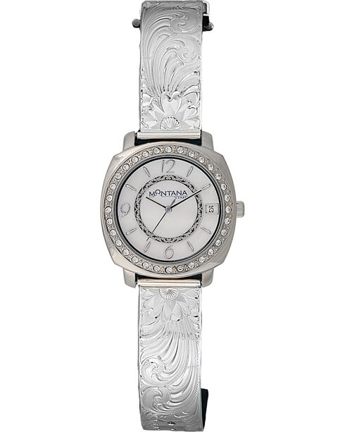 Montana Silversmiths Medium Moon Face Watch, Silver, hi-res