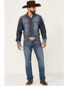 Ariat Men's M4 Ledge Medium Wash Stretch Relaxed Straight Jeans - Big , Blue, hi-res