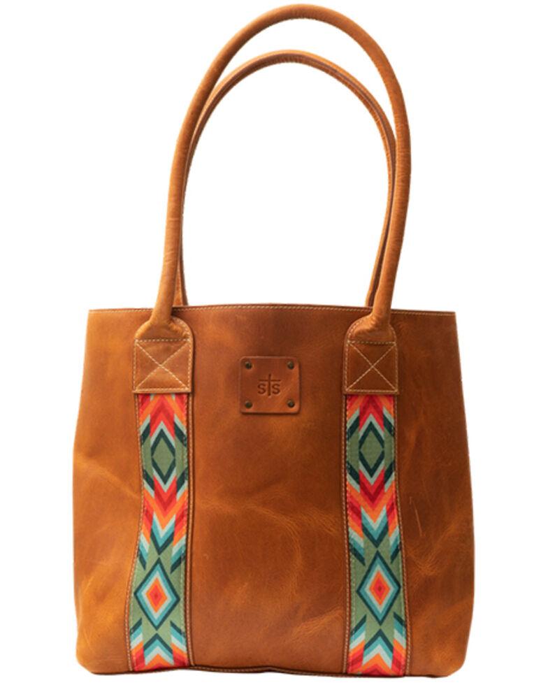 STS Ranchwear Women's Basic Bliss Tote Bag, Brown, hi-res