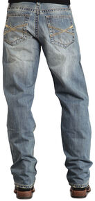 "Stetson 1520 Fit Classic ""X"" Stitched Jeans, Med Wash, hi-res"