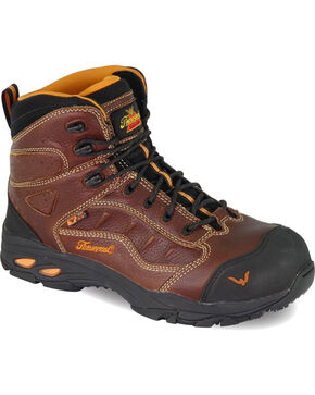 Thorogood Men's VGS-300/ASR/SD Sport Hiker Boots - Composite Safety Toe, Brown, hi-res