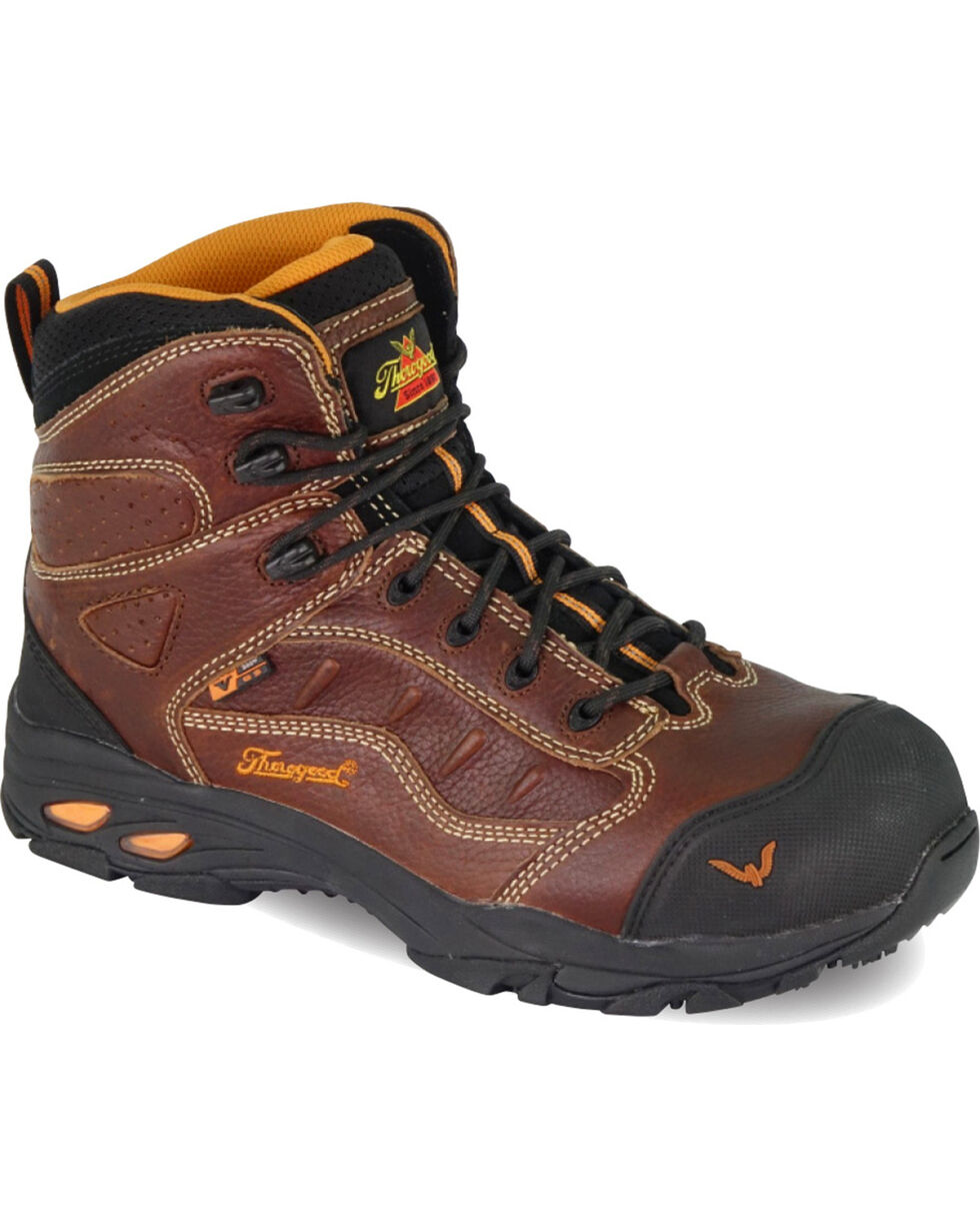 Thorogood Men's VGS-300/ASR/SD Sport Hiker Boots - Composite Safety Toe, Brown, hi-res