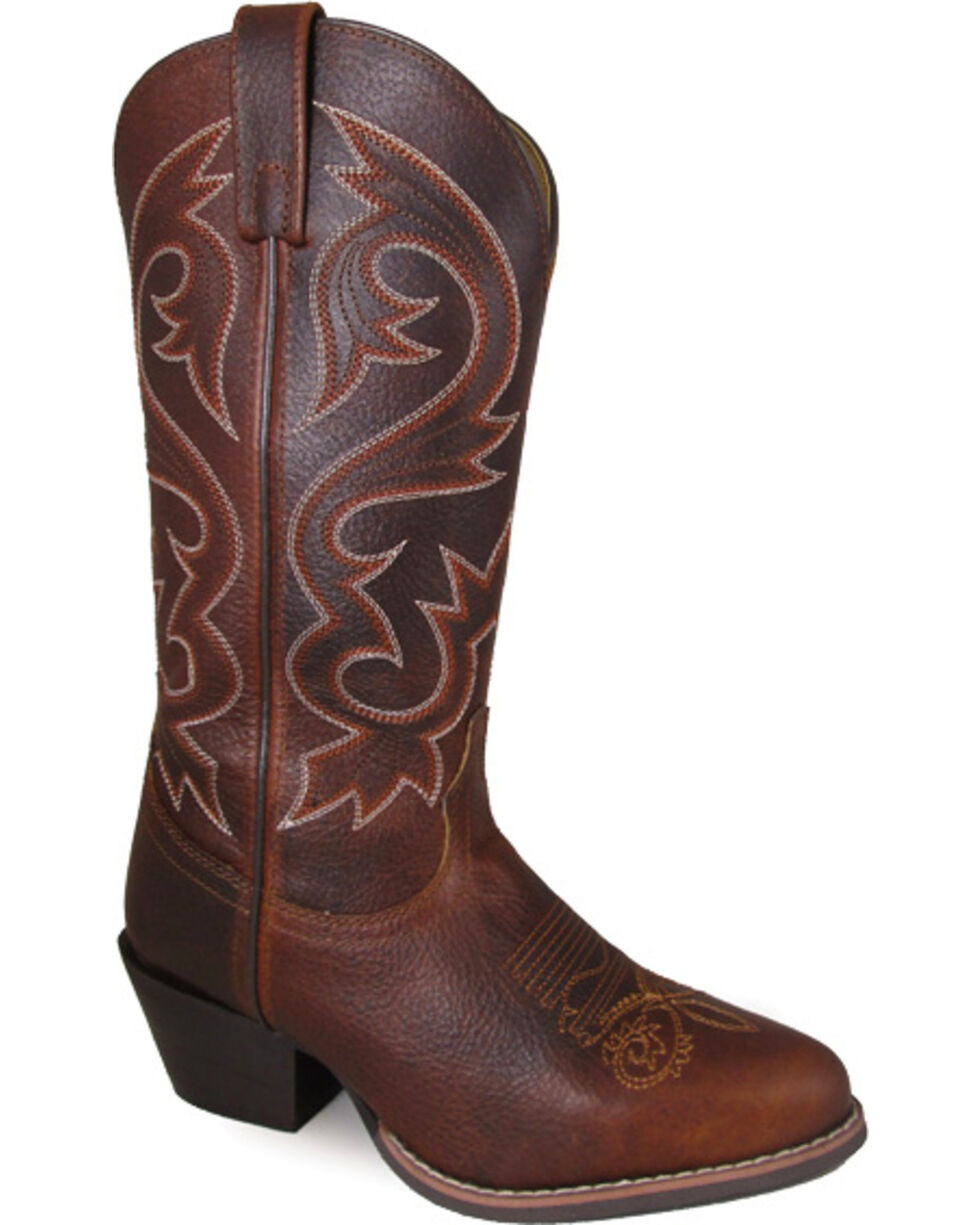 Smoky Mountain Women's Redbud Western Boots - Medium Toe , Brown, hi-res