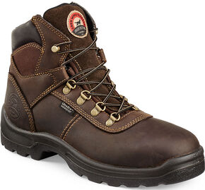 "Irish Setter by Red Wing Shoes Men's Ely 6"" EH Waterproof Work Boots  , Brown, hi-res"