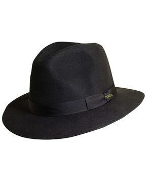 Scala Men's Chocolate Wool Felt Safari Hat, Chocolate, hi-res