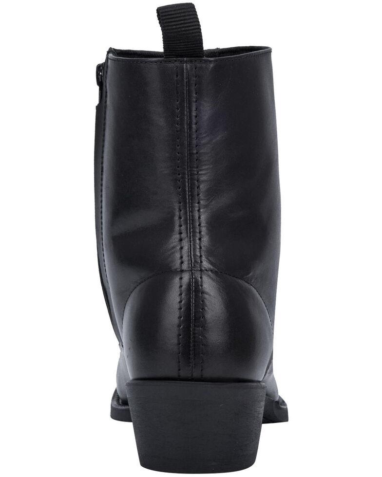 Laredo Men's Antique Black Side Zipper Western Boots - Round Toe, Black, hi-res