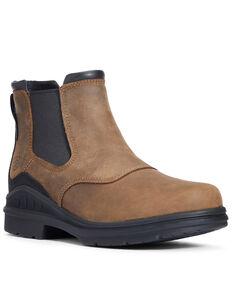 Ariat Men's Barnyard Twin Gore II Boots - Round Toe, Brown, hi-res