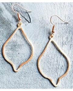 Jewelry Junkie Women's Gold Vermeil Diamond Shaped Earrings , Gold, hi-res