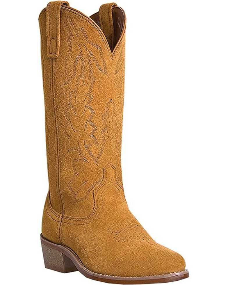 Laredo Men's Drew Suede Leather Cowboy Boots - Medium Toe, Tan, hi-res