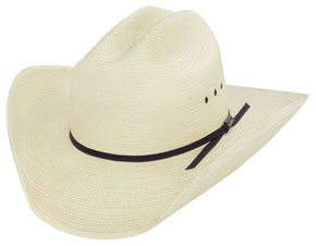 Larry Mahan Palm Straw Cowboy Hat , Natural, hi-res
