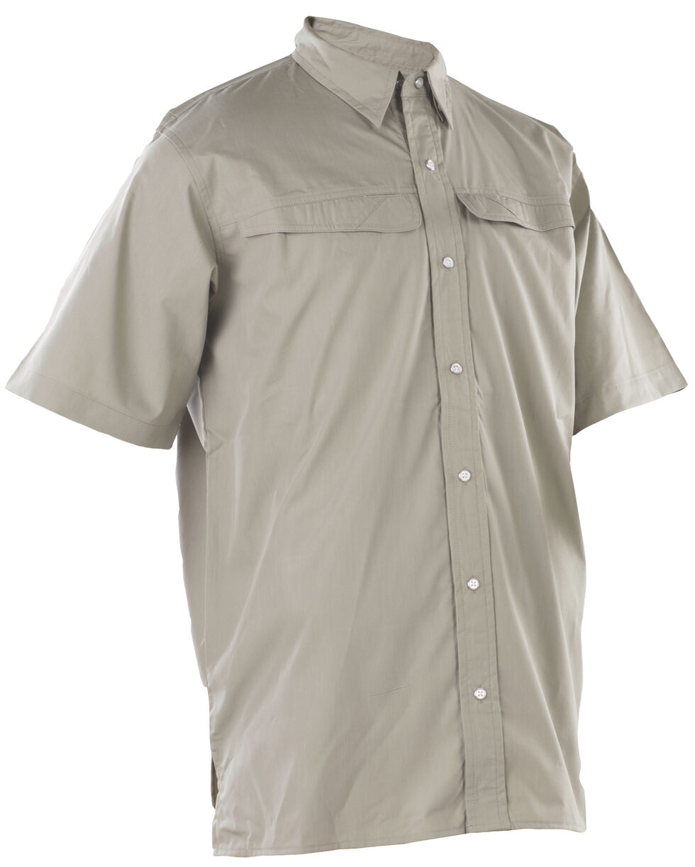 Tru-Spec Men's Beige 24-7 Pinnacle Short Sleeve Shirt , Beige, hi-res
